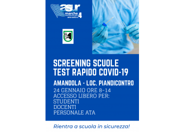 SCREENING SCUOLE TEST RAPIDO COVID-19
