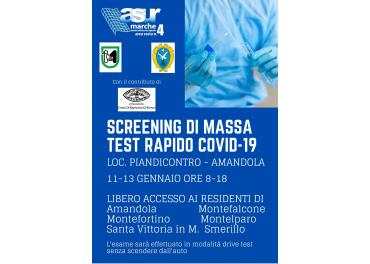 SCREENING DI MASSA TEST RAPIDO COVID-19. AGGIORNAMENTO